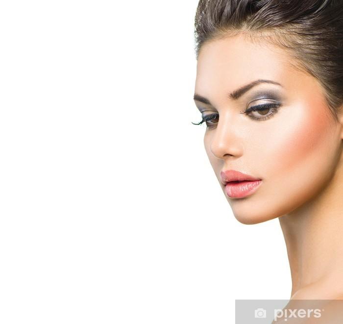 Fototapete Beauty-Modell. Schöne Spa Frau Profil Portrait