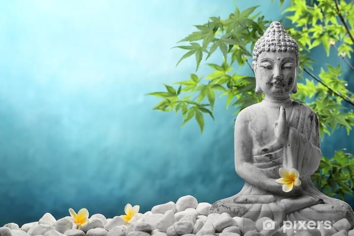 Buddha meditaatiossa Vinyyli valokuvatapetti -