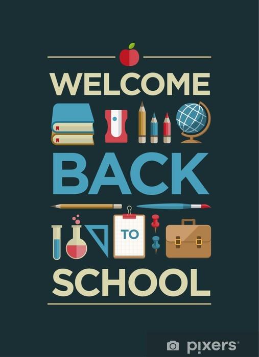 welcome back to school poster wall mural  u2022 pixers u00ae  u2022 we