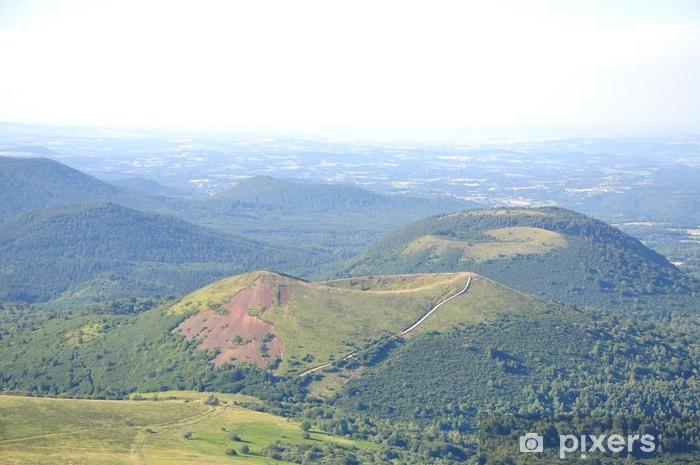 Nálepka Pixerstick Les Montagnes du Puy de Dome et Volvic - Prázdniny