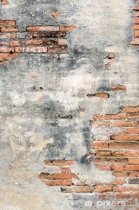 Vinyl-Fototapete Alte Backsteinwand und Zement - Themen