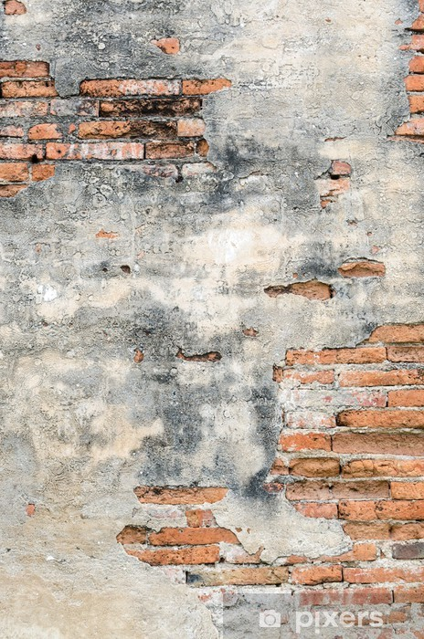 Old brick and cement wall Pixerstick Sticker - Themes