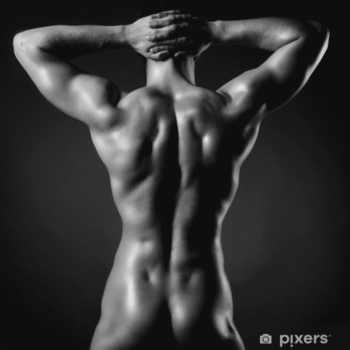 Plakat Nagi sportowiec - Uroda i pielęgnacja ciała