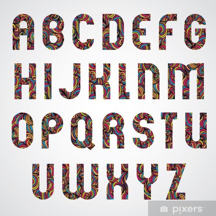 Papier peint vinyle Trendy conception des lettres de l'alphabet décoré. - Education