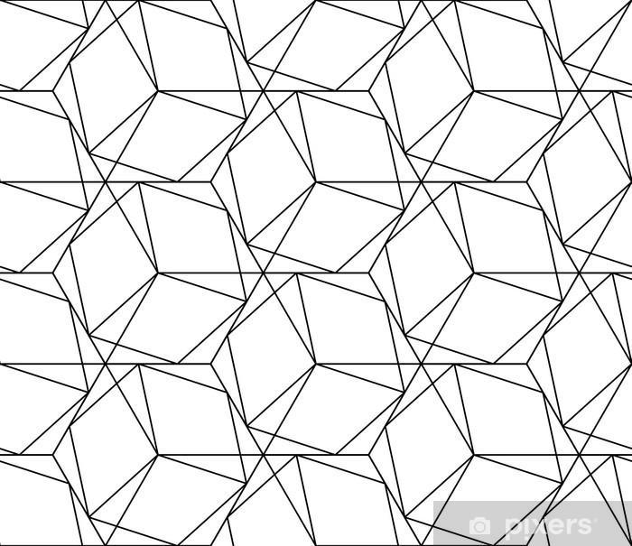 Papier Peint Seamless Géométrique Noir Et Blanc Avec La Ligne Et L Hexagone