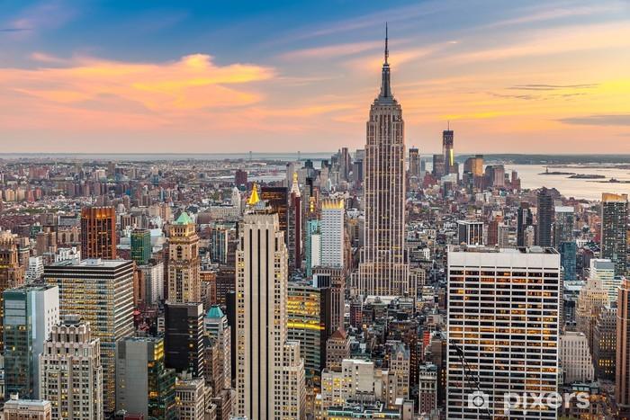 Naklejka Pixerstick Manhattan z lotu ptaka - Tematy