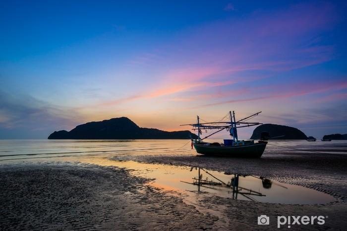Naklejka Pixerstick Wschód słońca na Pranburi - Azja