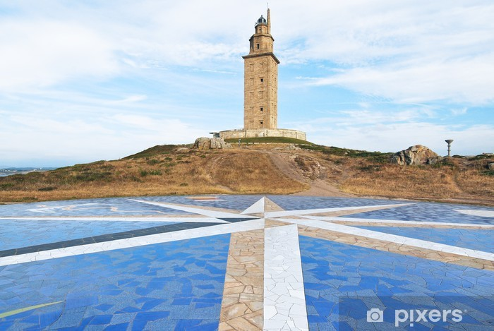 Nálepka Pixerstick Maják věž Hercules, La Coruna, Galicia - Evropa