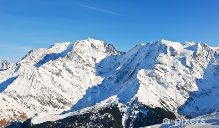 MontBlanc mountain in Alps Pixerstick Sticker - Europe