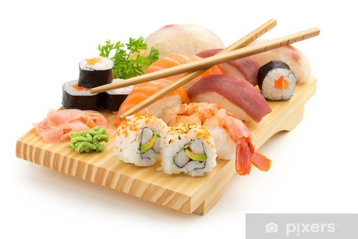 Fototapeta winylowa Japońskie sushi płyty - Sushi