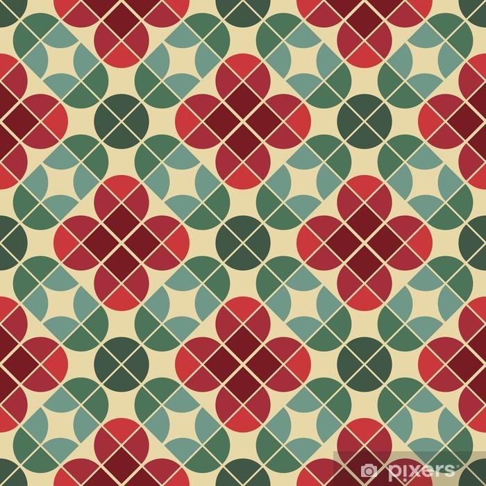 Fotomural Estándar Fondo inconsútil de azulejos de estilo vintage con flores estilizadas. - Estilos