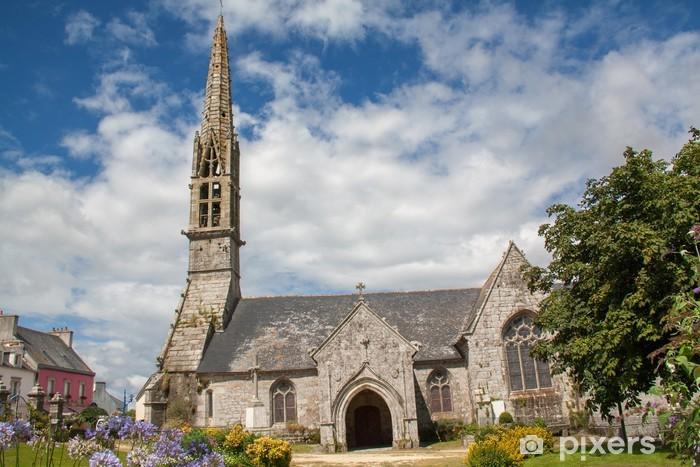 Vinyl-Fototapete Eglise Saint Ergat à Pouldergat, Finistère, Bretagne - Öffentliche Gebäude