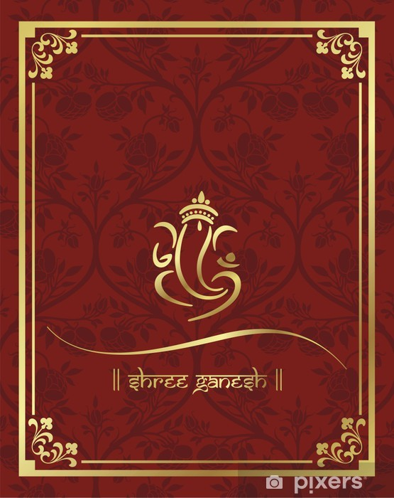 ganesha wedding card royal rajasthan india wall mural