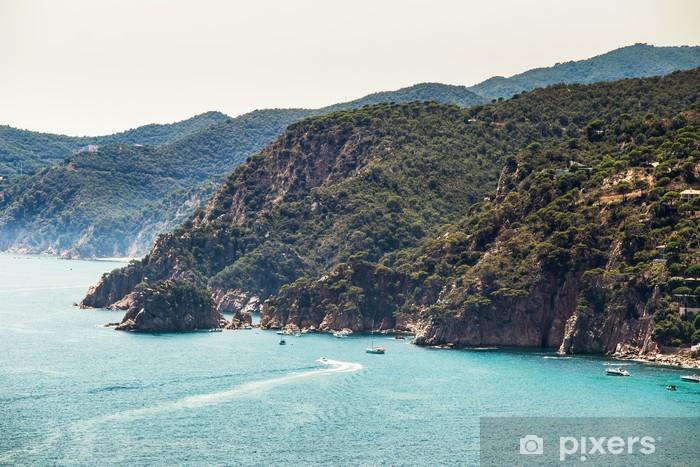 Papier peint vinyle Costa Brava paysage - Eau