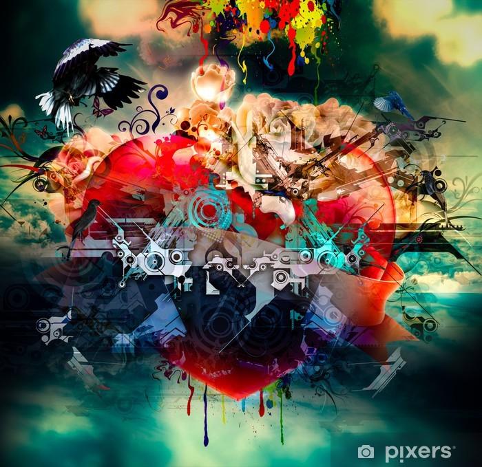 Poster Lumineux fond abstrait - Bonheur