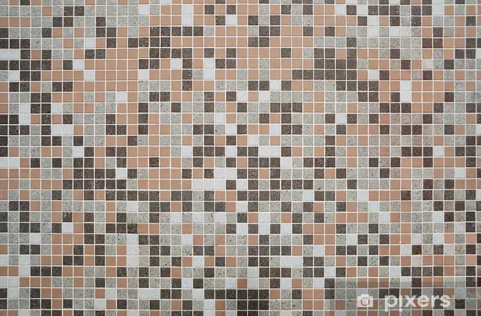 Pavimento Bianco E Grigio : Carta da parati marrone grigio e bianco mosaico parete pavimento