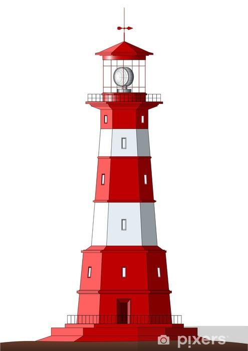 Nálepka Pixerstick Detailní Lighthouse - izolovaných na bílém - Život