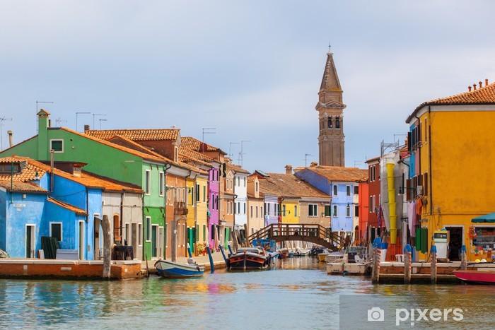 Carta da Parati in Vinile Case di colore su Burano vicino a Venezia - Temi