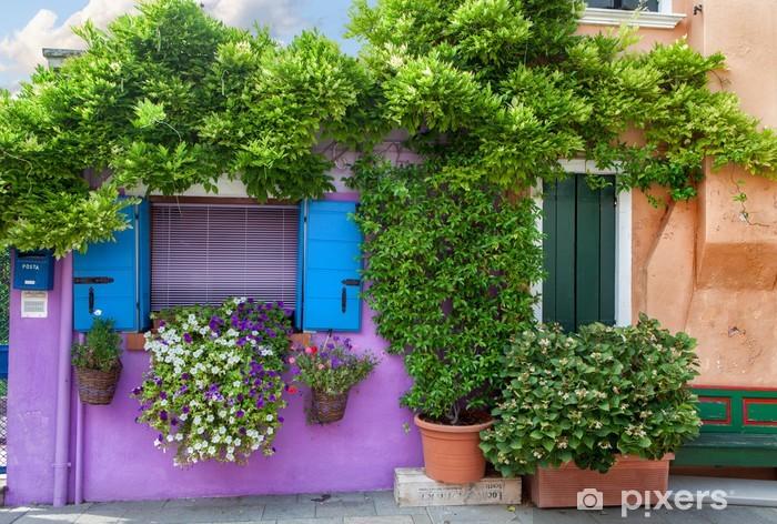 Papier peint vinyle Maison de couleur sur Burano île près de Venise, Italie - Destin