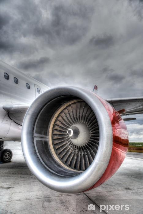 Vinylová fototapeta Red Plane Engine - Vinylová fototapeta