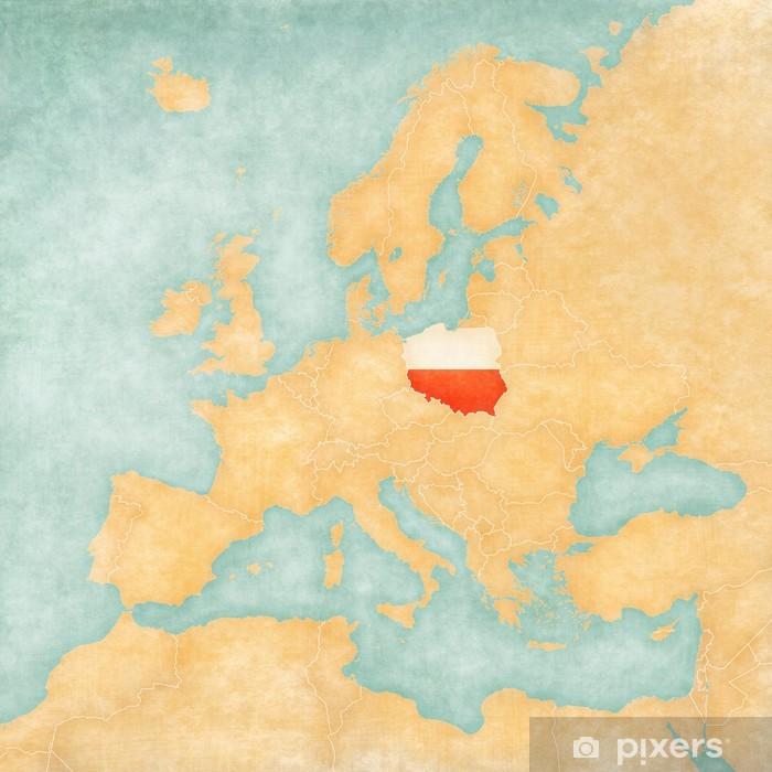Plakat Mapa Europy Polska Rocznik Serii Pixers Zyjemy By
