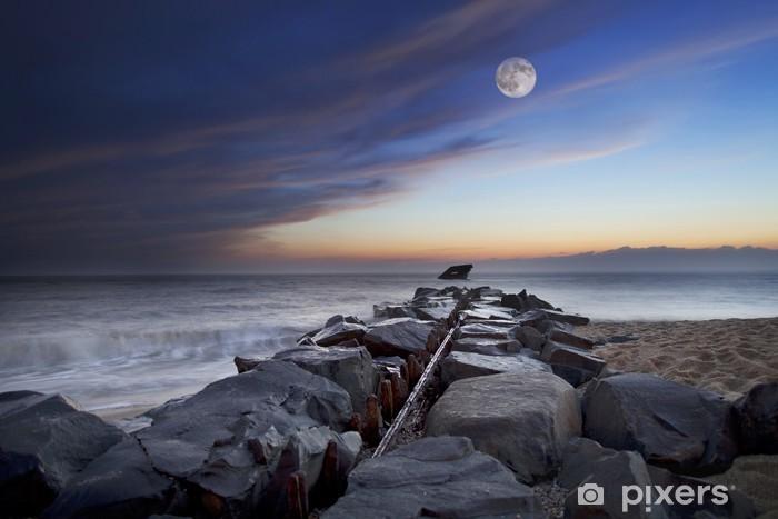 Adesivo Luna Piena Sul Mare Pixers Viviamo Per Il Cambiamento