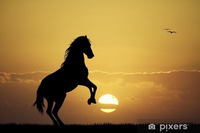 Pixerstick-klistremerke Galloping hest - Pattedyr