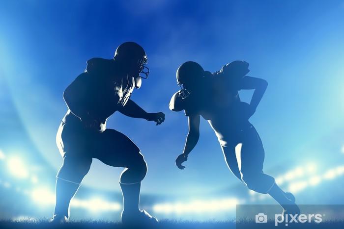 Fotomural Estándar Jugadores de fútbol americano de juego, el mariscal de campo corriendo. Juego - Fútbol Americano