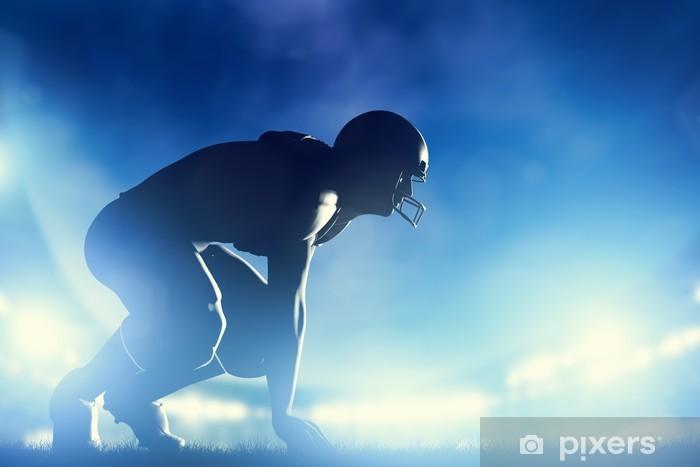 Fotomural Estándar Jugadores de fútbol americano de juego. luces del estadio - Fútbol Americano
