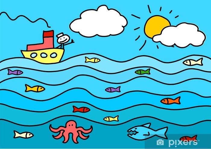 Fototapeta Rysunek dziecka z morza • Pixers® - Żyjemy by zmieniać