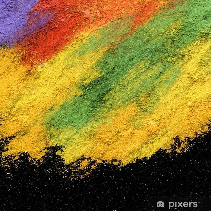 Vinilo Pixerstick Acrílico con textura abstracta y pastel al óleo pintada a mano de fondo - Temas