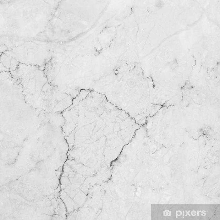 Hvid marmor med naturligt mønster. Vaskbare fototapet -