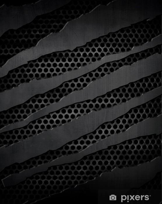 cracked metal plate Pixerstick Sticker - Textures