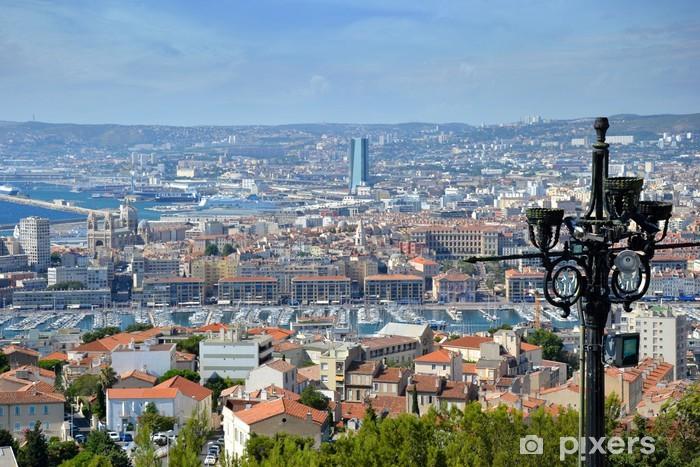 Vinilo Pixerstick Quartier de Marsella vu de Notre de la Garde - Europa