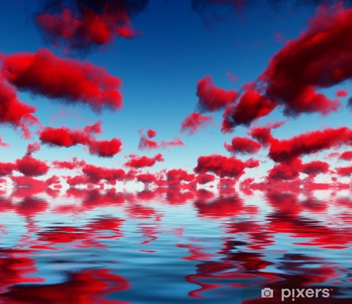 Naklejka Pixerstick Deep Red Chmury i refleksje - Tematy