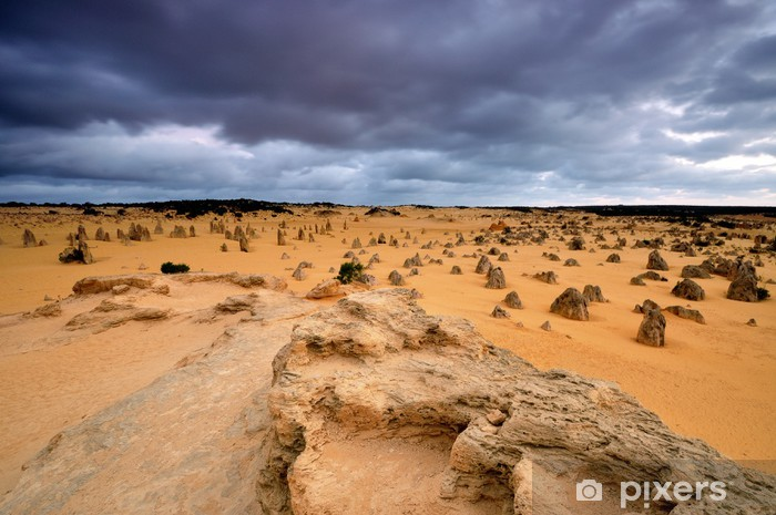 Sticker Pixerstick Calcaires à Pinnacles Desert en Australie occidentale - Thèmes
