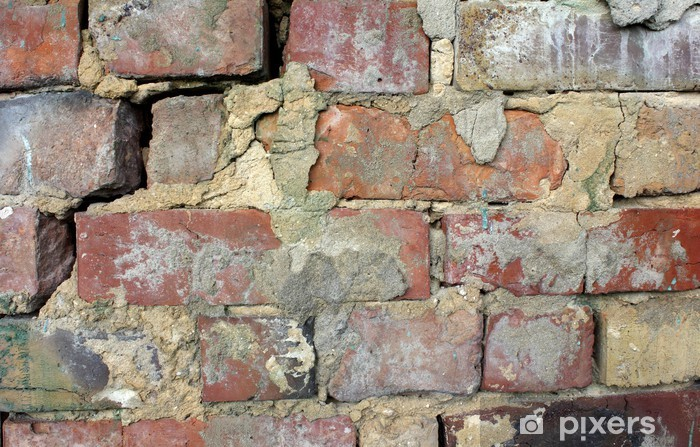 Naklejka Pixerstick Część starego ceglanego muru - Tekstury