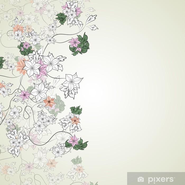 26278ed9fc03f8 Fototapeta Delikatne kwiaty na jasnym tle • Pixers® - Żyjemy by zmieniać