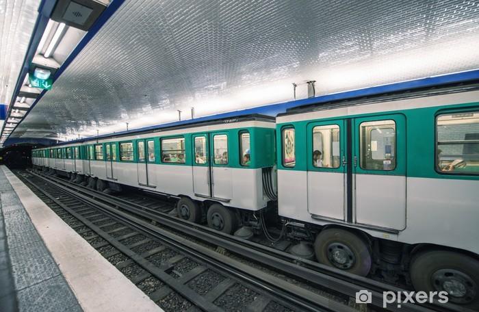 Metro Train In Paris Underground Parisian Scene France