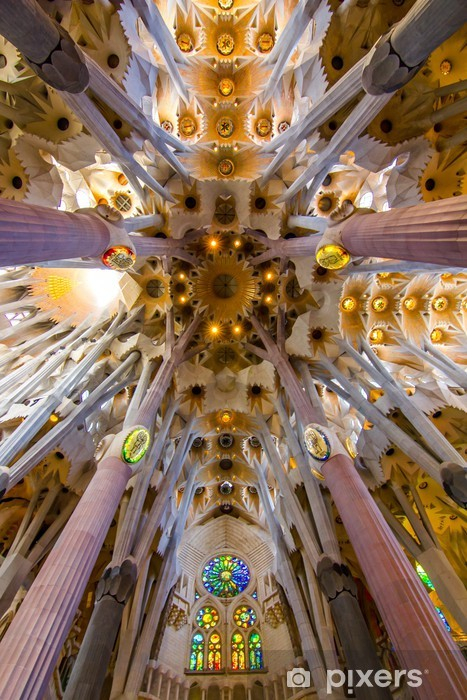Fototapeta winylowa Sagrada Familia - Kolumny i łuki
