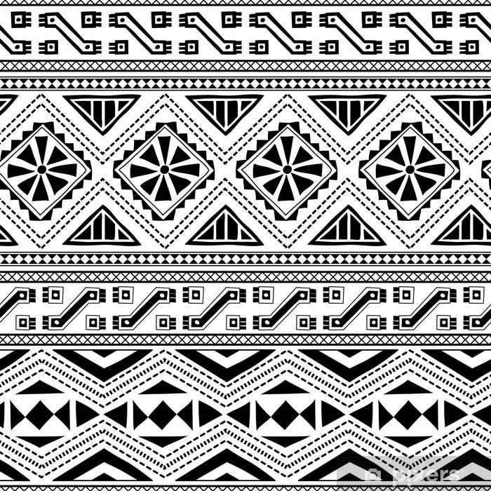 Plakat Etniczny wzór bez szwu ozdobnych włókienniczej - Style