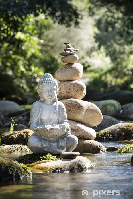 Bouddha et Bien-être Pixerstick Sticker - Themes
