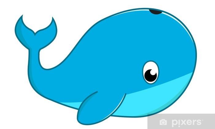 Sticker Pixerstick Baleine - Animaux marins