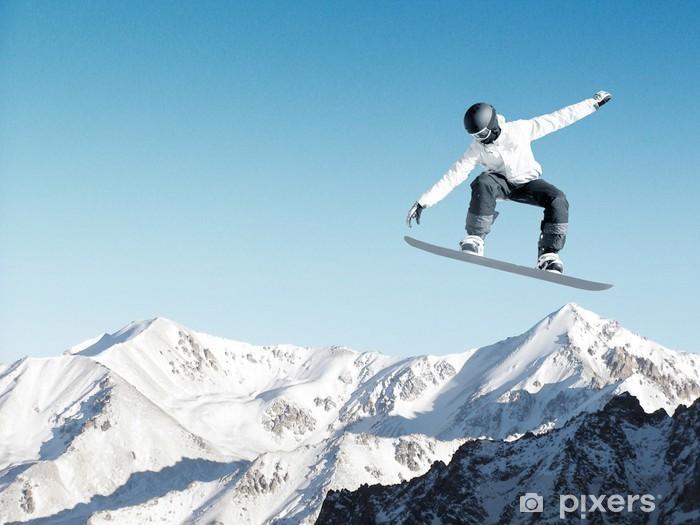 Snowboarding sport Vinyl Wall Mural - Holidays