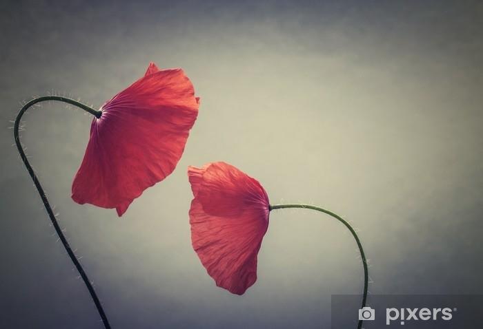 Fotomural Estándar Amapolas de arte - Plantas y flores