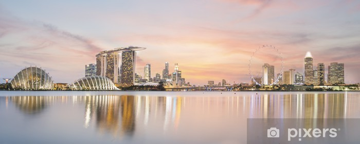 Singapore skyline Vinyl Wall Mural - Asian Cities