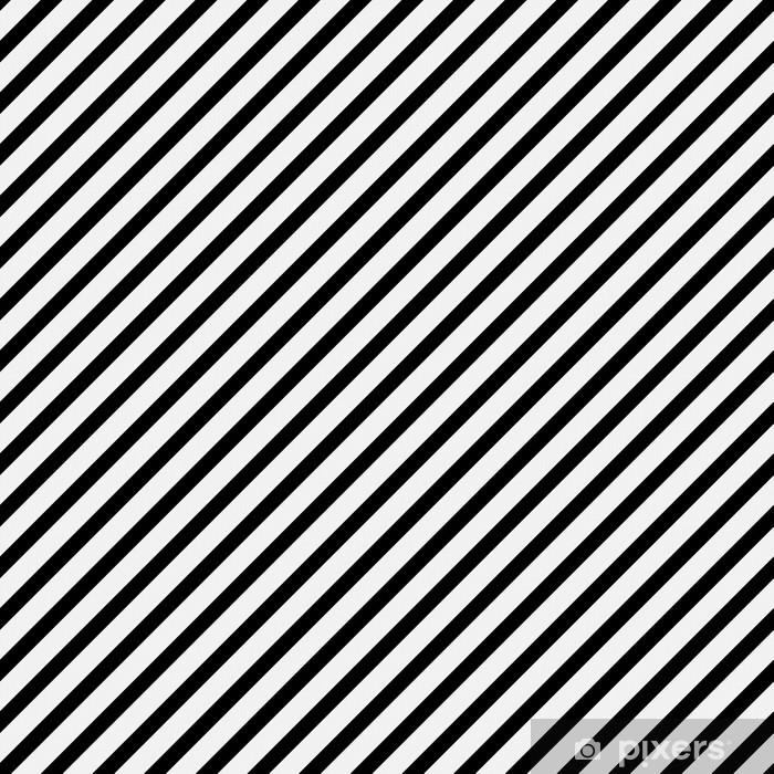 Papier peint vinyle Noir et blanc rayé diagonal Motif Répétez Contexte - Thèmes