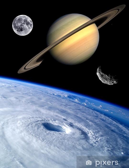 Papier peint vinyle Terre Fantaisie planètes Univers - Planètes