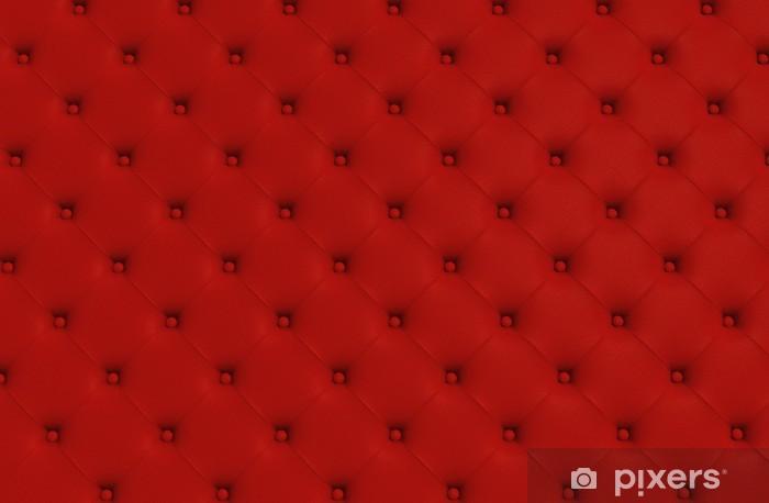 Pixerstick Sticker De rode textuur van de huid gewatteerde sofa - Mode