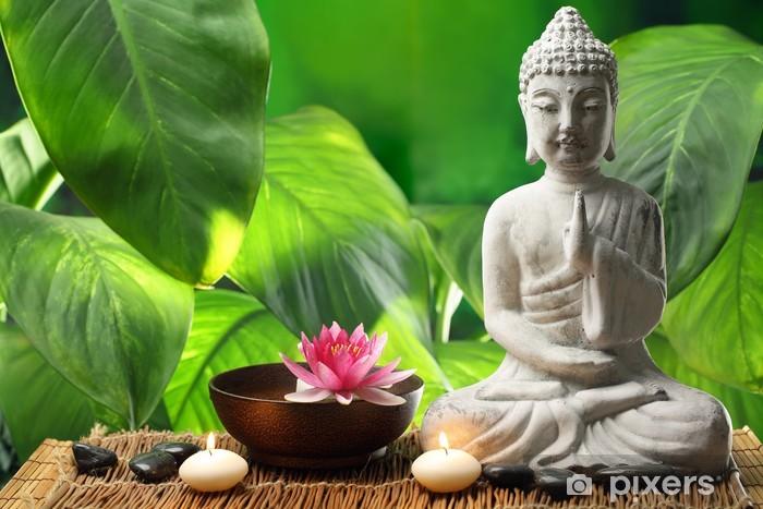 Papier peint vinyle Bouddha en méditation - Destin